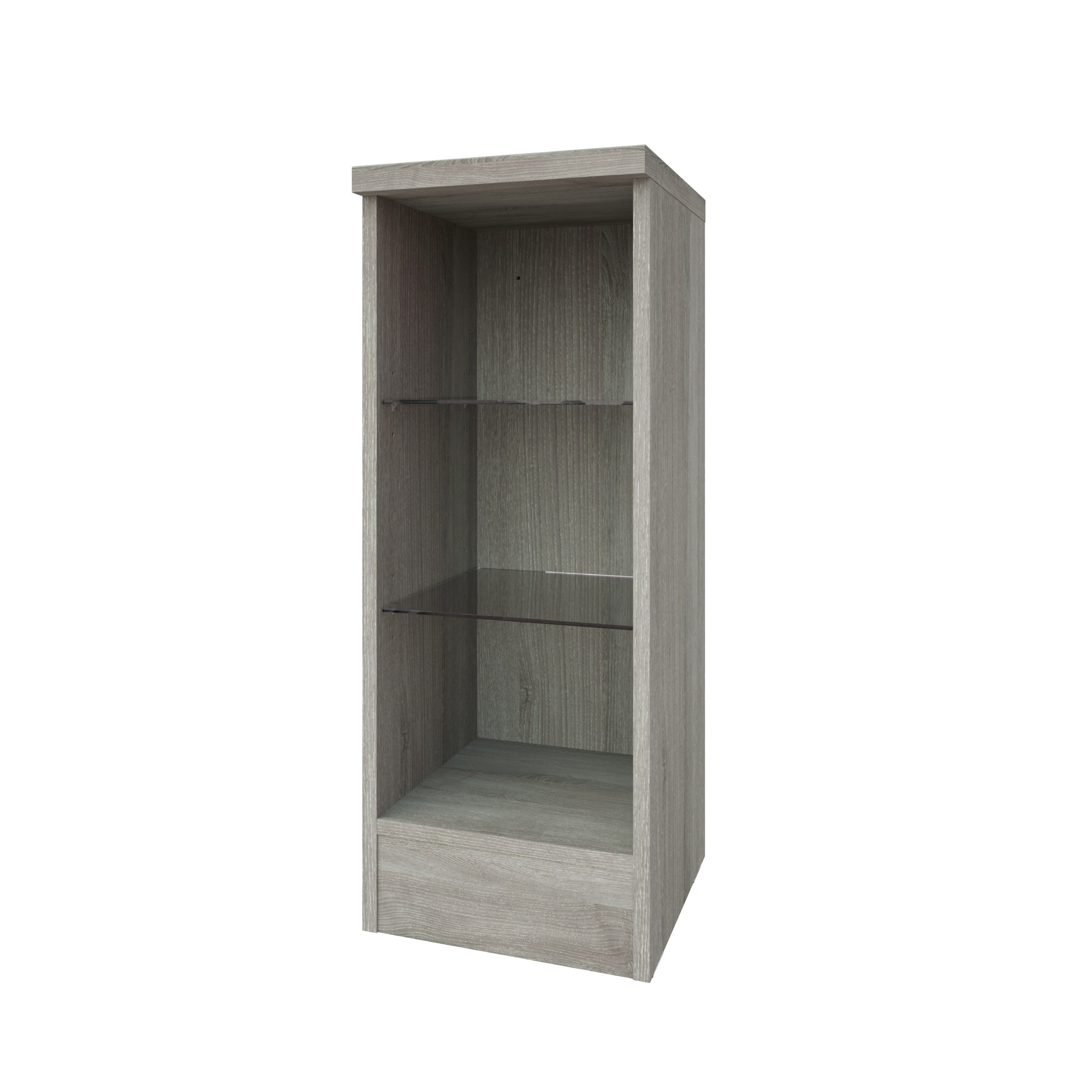 Purity 300mm Open Glass Shelf unit Grey Ash