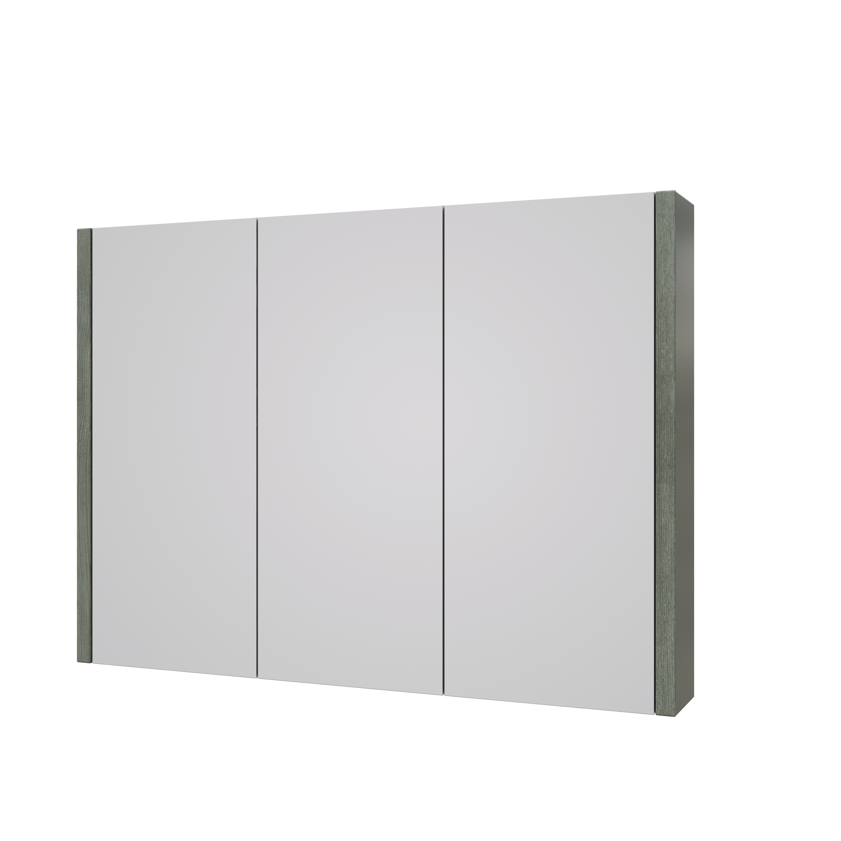 Purity 900mm Mirror Cabinet Grey Ash